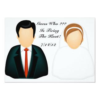 "Icon Wedding 5"" X 7"" Invitation Card"