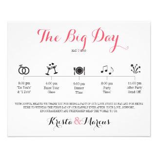 Icon Wedding Itinerary - Destination Wedding Full Colour Flyer