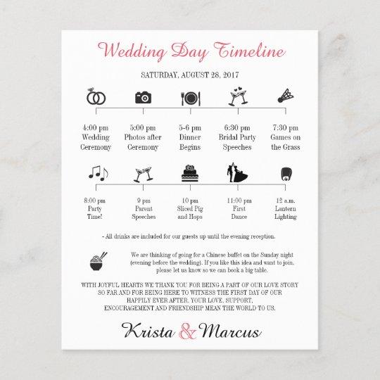 icon wedding timeline program zazzle ca