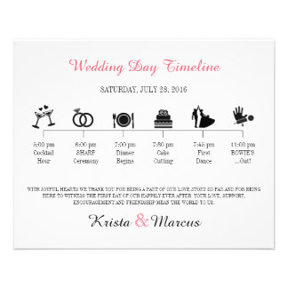Icon Wedding Timeline Program Flyer Design