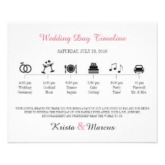 Icon Wedding Timeline Program Flyers
