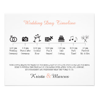 Icon Wedding Timeline Program Flyers