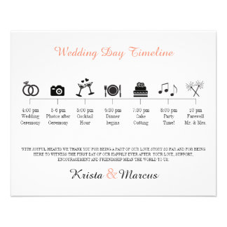 Icon Wedding Timeline Program Full Color Flyer