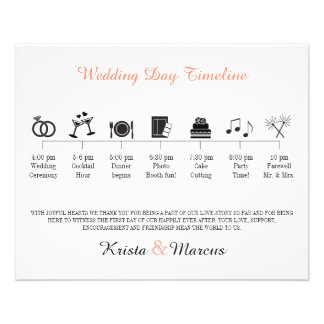 Icon Wedding Timeline Program Full Colour Flyer