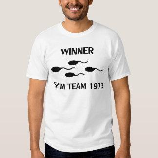 icône 1973 d'équipe de natation de gagnant t shirt