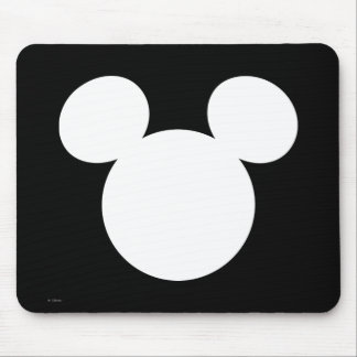 Icône blanche du logo | Mickey de Disney Tapis De Souris
