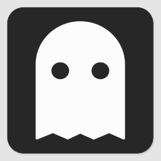 Icône de fantôme sticker carré