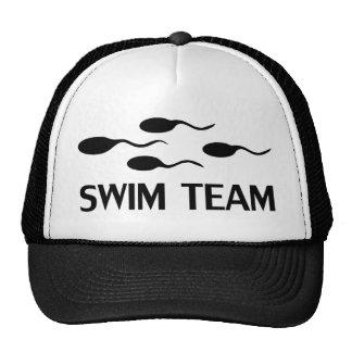 icône d'équipe de natation casquettes