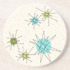 Iconic Atomic Starbursts Sandstone Coaster