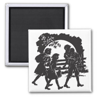Iconic Boxcar Children Silhouette Magnet