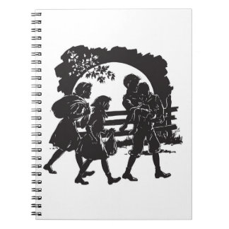 Iconic Boxcar Children Silhouette Notebook