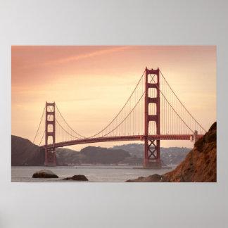 Iconic Bridge Golden Gate San Francisco California Poster