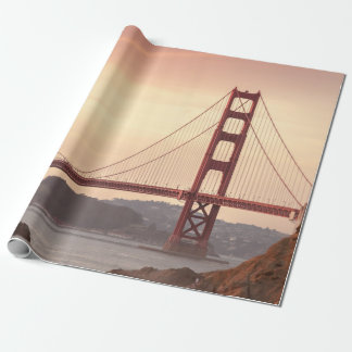 Iconic Bridge Golden Gate San Francisco California Wrapping Paper