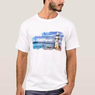 Iconic Brixham England Lighthouse and Breakwater T-Shirt