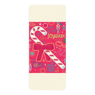 """Iconic Candy Cane 4"""" X 9.25"""" Invitation Card"""