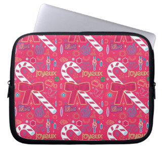 Iconic Candy Cane Laptop Computer Sleeves