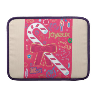 Iconic Candy Cane MacBook Sleeves