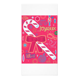 Iconic Candy Cane Photo Greeting Card