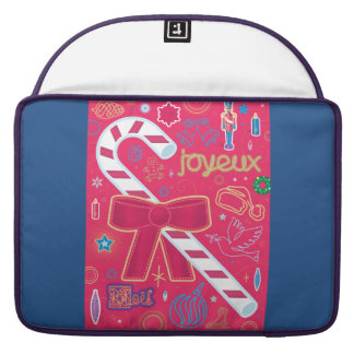 Iconic Candy Cane Sleeve For MacBooks