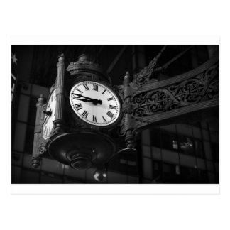 Iconic Chicago Landmark Clock Postcard