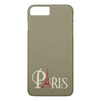 Iconic Eiffel Tower in Red Paris France iPhone 7 Plus Case