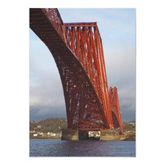 "Iconic Forth Rail Bridge 5"" X 7"" Invitation Card"