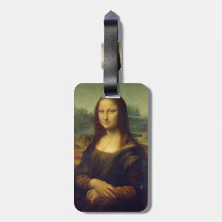 Iconic Leonardo da Vinci Mona Lisa Luggage Tag