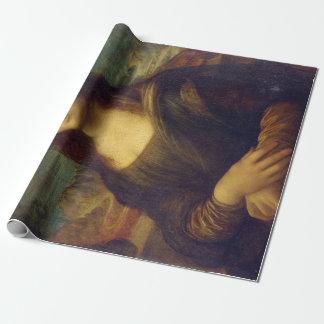 Iconic Leonardo da Vinci Mona Lisa Wrapping Paper