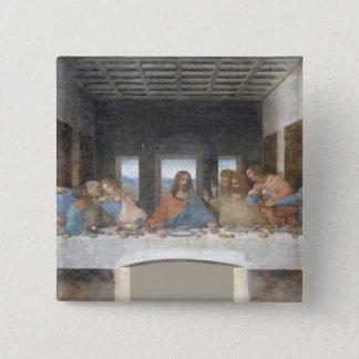 Iconic Leonardo da Vinci The Last Supper 2 Inch Square Button