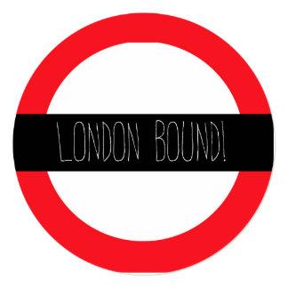 Iconic London Underground Custom Party Invitation