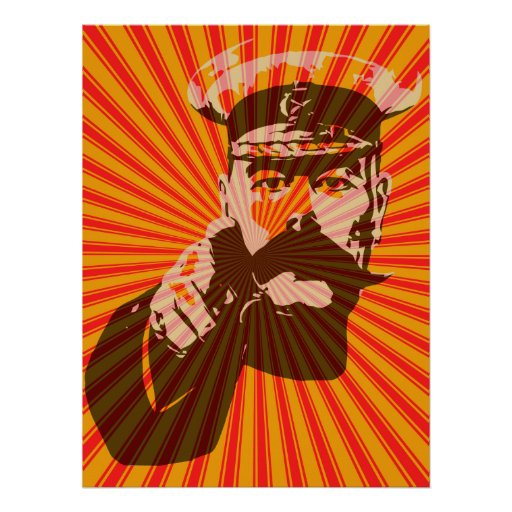 Iconic Lord Kitchener pop art style Posters