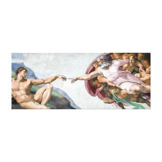 Iconic Michelangelo Creation of Adam Canvas Print