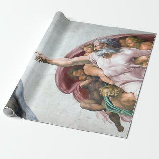 Iconic Michelangelo Creation of Adam Wrapping Paper