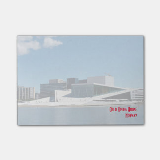 Iconic Oslo Opera House Across The Water Post-it® Notes