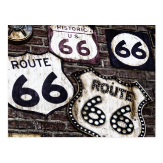 Iconic Route 66 Postcard