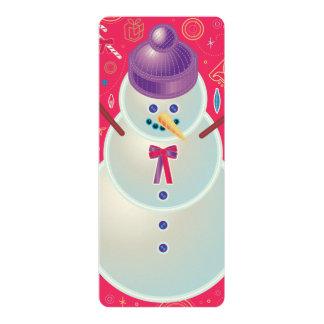 "Iconic Snowman 4"" X 9.25"" Invitation Card"