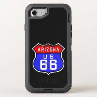 Iconic Vintage Route 66 Arizona OtterBox Defender iPhone 8/7 Case