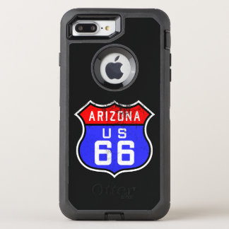 Iconic Vintage Route 66 Arizona OtterBox Defender iPhone 8 Plus/7 Plus Case