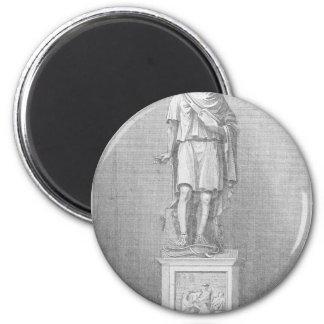 Iconist-Statue 2 Inch Round Magnet