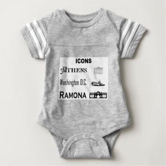 Icons-Athens-DC-Ramona Baby Bodysuit