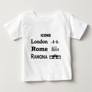 Icons-London-Rome-Ramona Baby T-Shirt