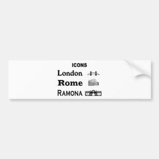Icons-London-Rome-Ramona Bumper Sticker