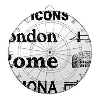 Icons-London-Rome-Ramona Dartboard