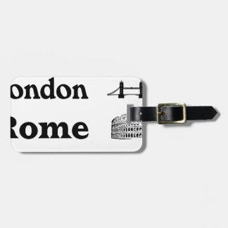 Icons-London-Rome-Ramona Luggage Tag