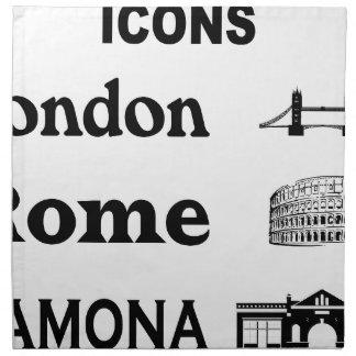 Icons-London-Rome-Ramona Napkin
