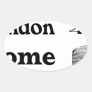 Icons-London-Rome-Ramona Oval Sticker