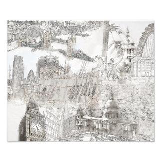 Icons of London - Digital Art . Photo Print