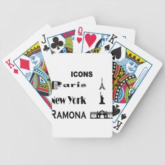 Icons-Paris-NewYork-Ramona Bicycle Playing Cards