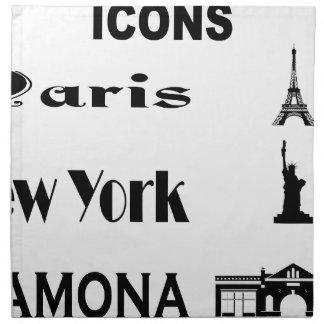Icons-Paris-NewYork-Ramona Napkin