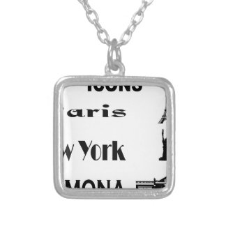 Icons-Paris-NewYork-Ramona Silver Plated Necklace